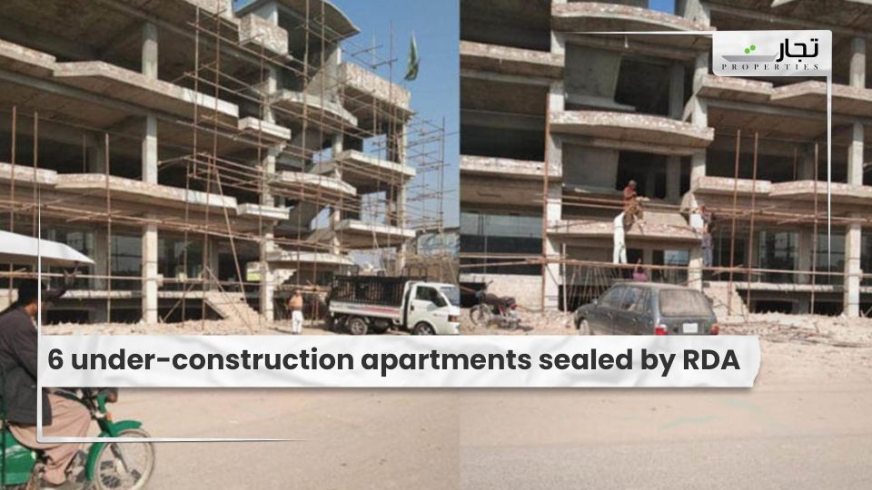 6 under-construction apartments sealed by RDA