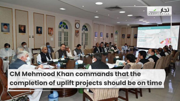CM Mehmood Khan commands that the completion of uplift projects should be on time