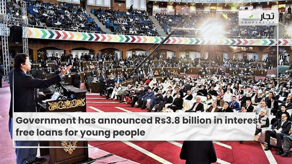 Government has announced Rs3.8 billion in interest-free loans for young people