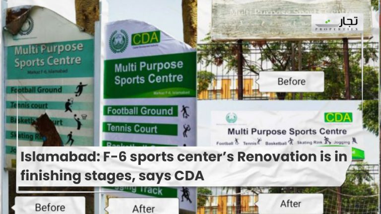 Islamabad F-6 sports center's Renovation is in finishing stages, says CDA