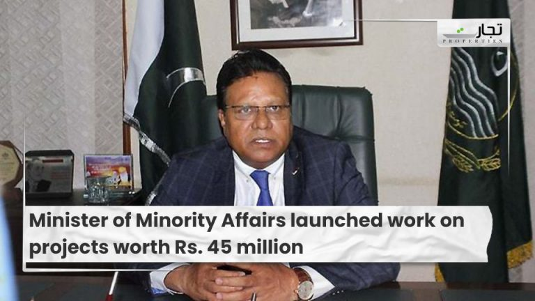 Minister of Minority Affairs launched work on projects worth Rs. 45 million