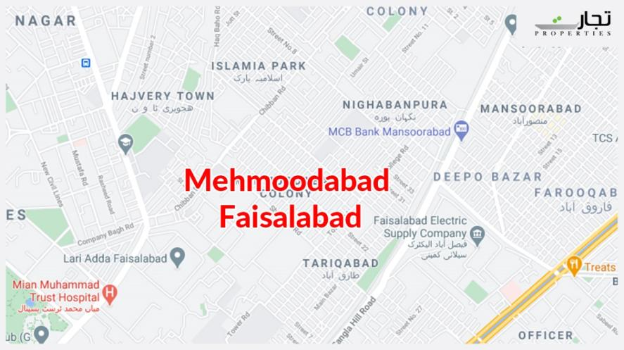 Mehmoodabad Faisalabad Location