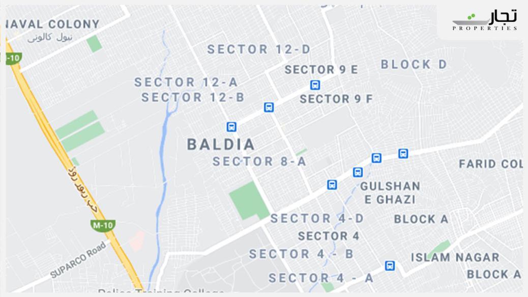 Baldia Town Karachi Location Map