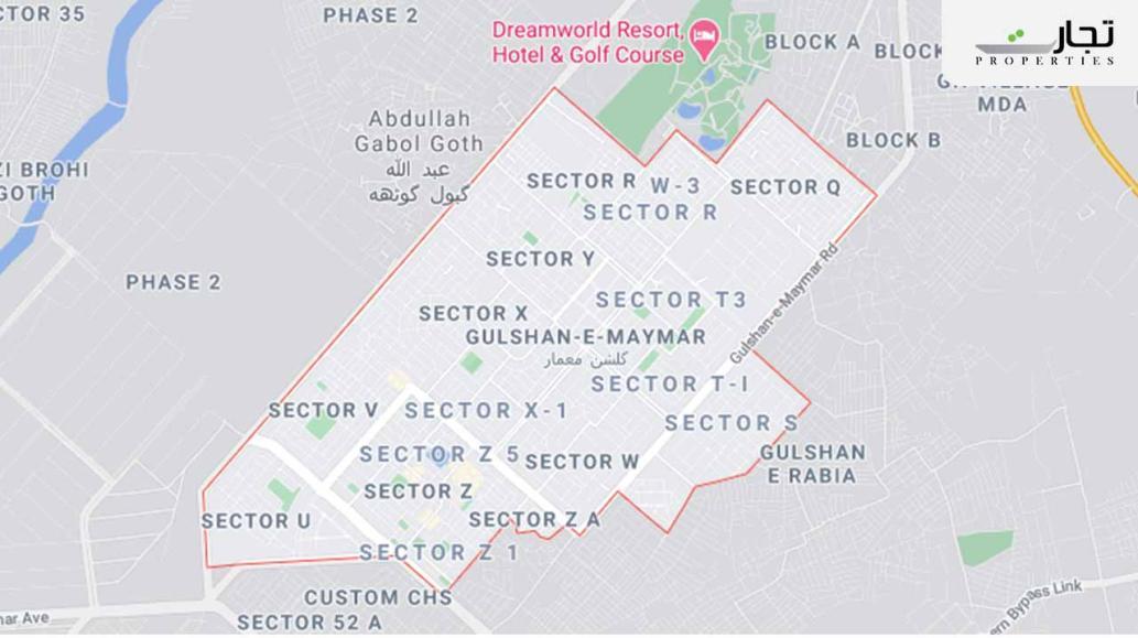 Gulshan-e-Maymar Karachi Location