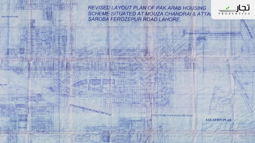 Master Plan of Pak Arab Housing Scheme