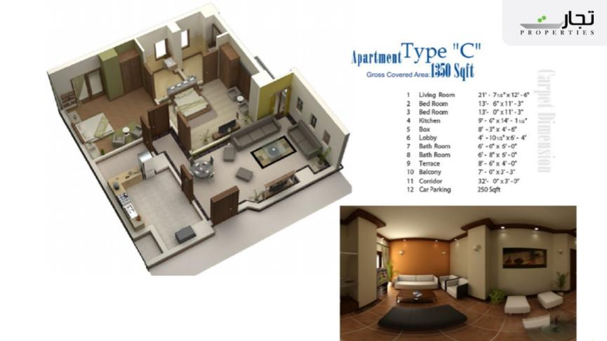Lifestyle Residency Floorplans for Category C Apartments