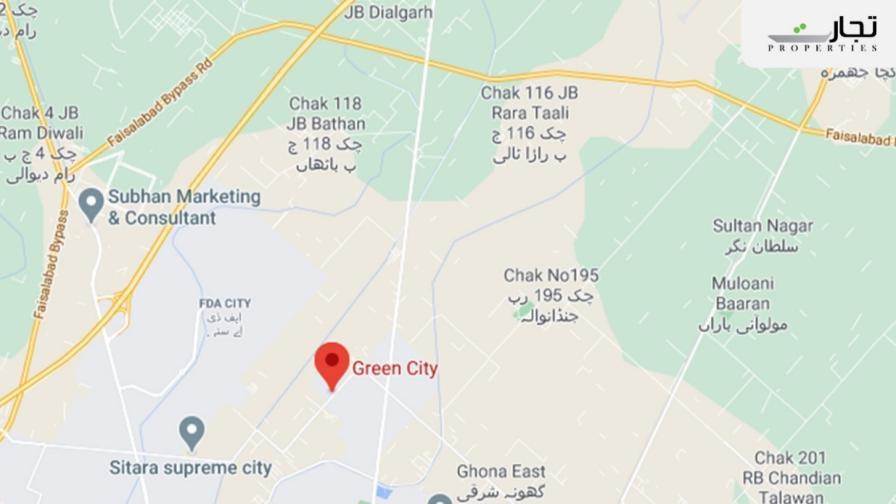Green City Faisalabad Location