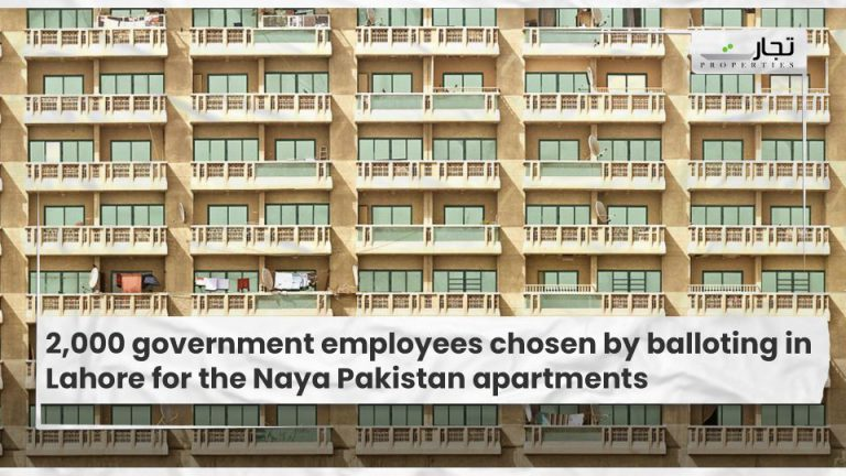 2,000 government employees chosen by balloting in Lahore for the Naya Pakistan apartments