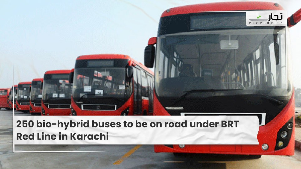 250 bio-hybrid buses to be on road under BRT Red Line in Karachi