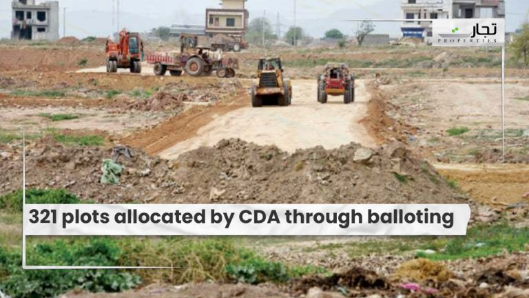 321 plots allocated by CDA through balloting