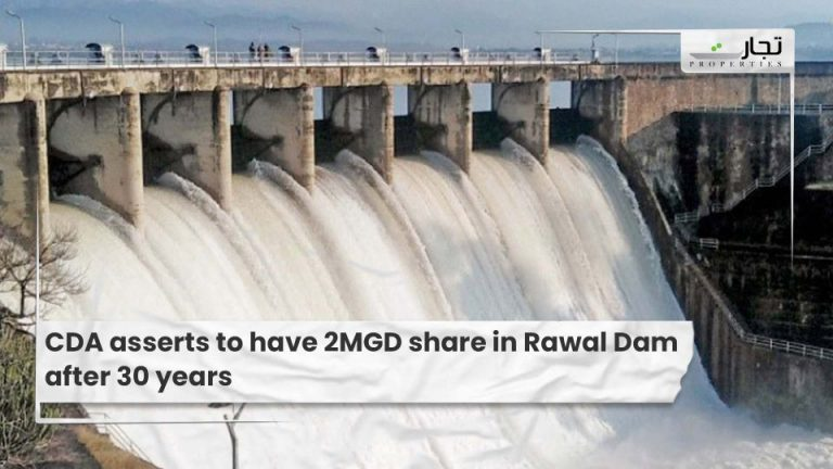 CDA asserts to have 2MGD share in Rawal Dam after 30 years