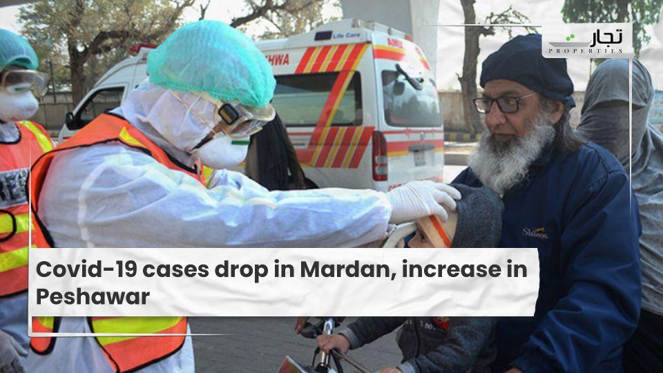 Covid-19 cases drop in Mardan, increase in Peshawar