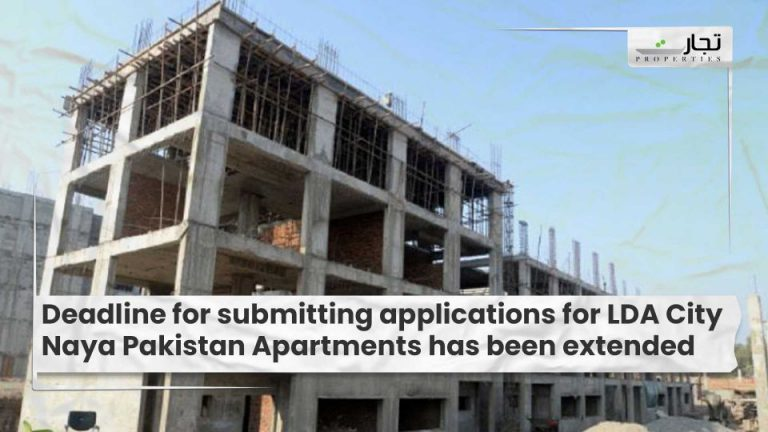 Deadline for submitting applications for LDA City Naya Pakistan Apartments has been extended