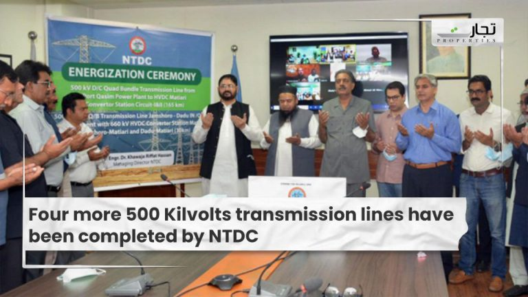 Four more 500 Kilvolts transmission lines have been completed by NTDC