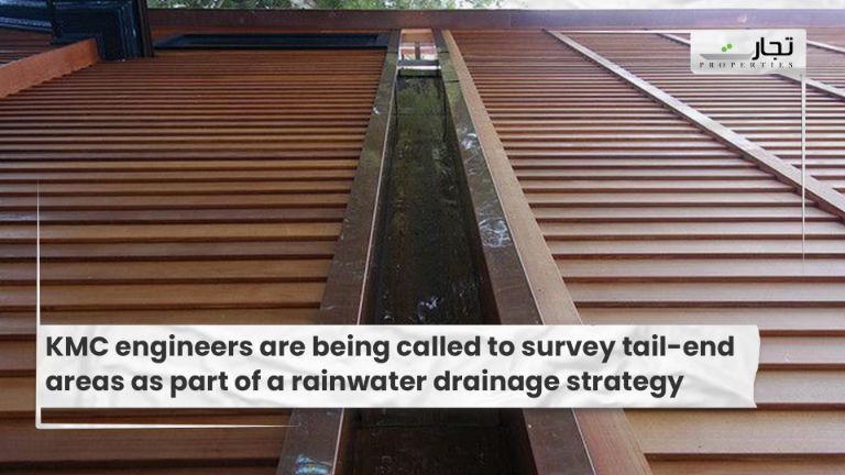 KMC engineers are being called to survey tail-end areas as part of a rainwater drainage strategy
