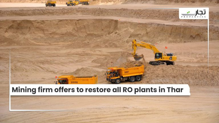 Mining firm offers to restore all RO plants in Thar