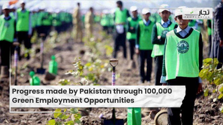 Progress made by Pakistan through 100,000 Green Employment Opportunities