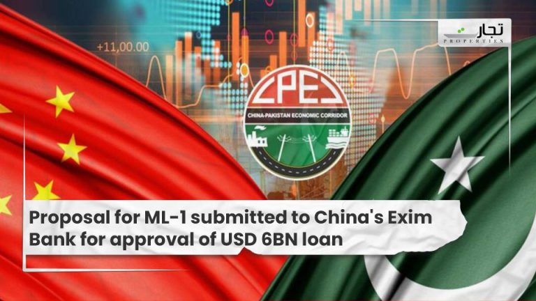 Proposal for ML-1 submitted to China's Exim Bank for approval of USD 6BN loan