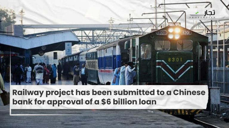 Railway project has been submitted to a Chinese bank for approval of a $6 billion loan