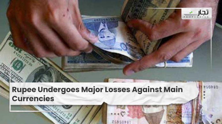 Rupee Undergoes Major Losses Against Main Currencies