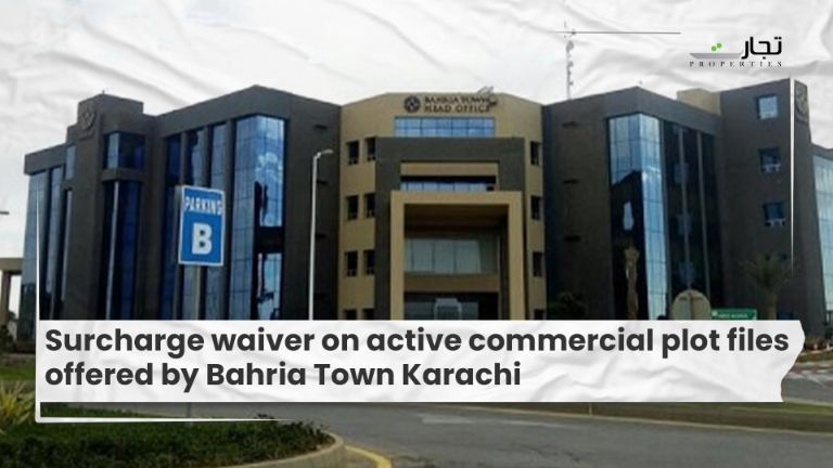 Surcharge waiver on active commercial plot files offered by Bahria Town Karachi