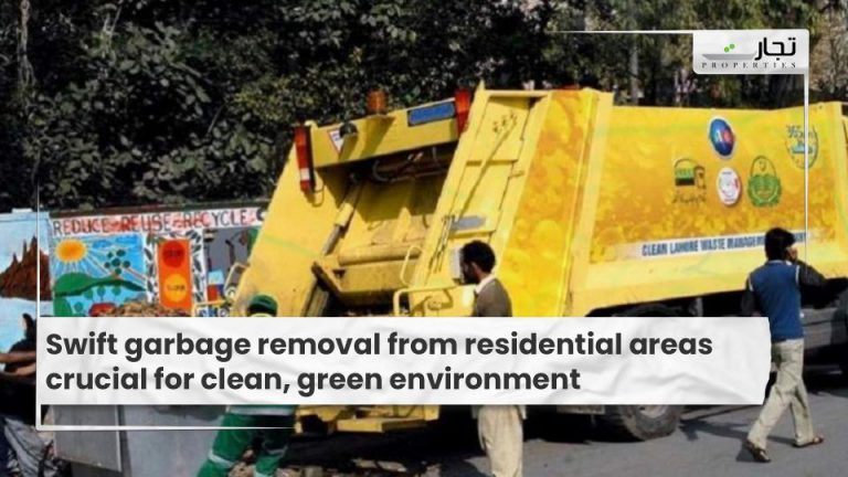 Swift garbage removal from residential areas crucial for clean, green environment