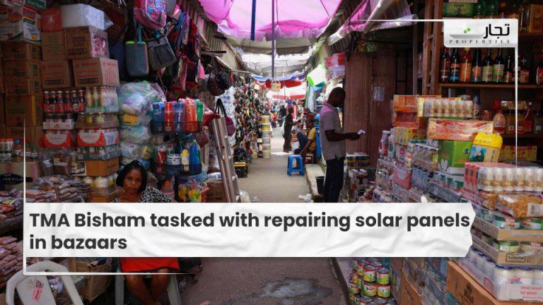 TMA Bisham tasked with repairing solar panels in bazaars