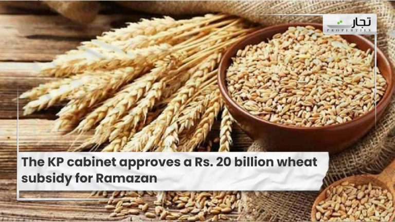 The KP cabinet approves a Rs. 20 billion wheat subsidy for Ramazan