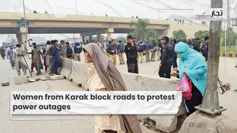 Women from Karak block roads to protest power outages