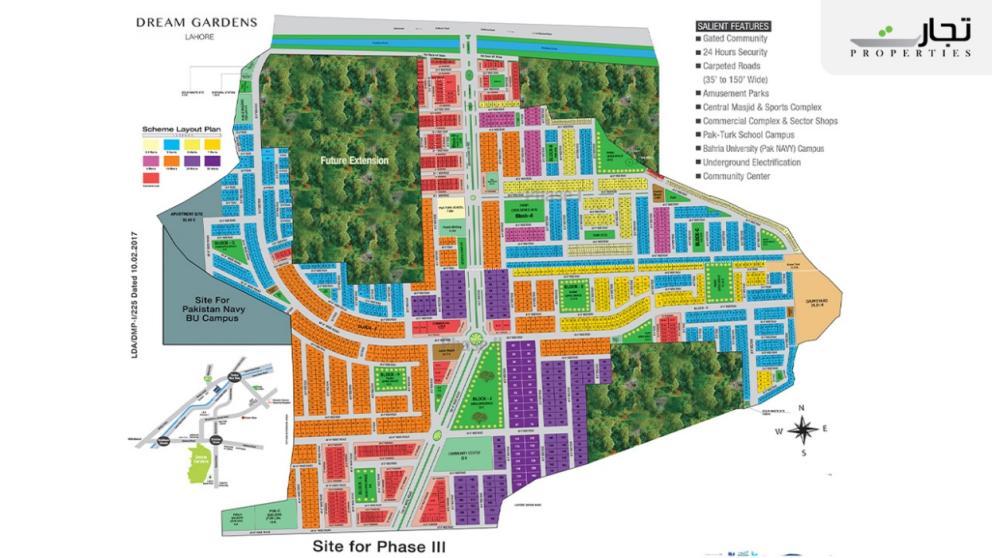 Dream Gardens Lahore Master Plan