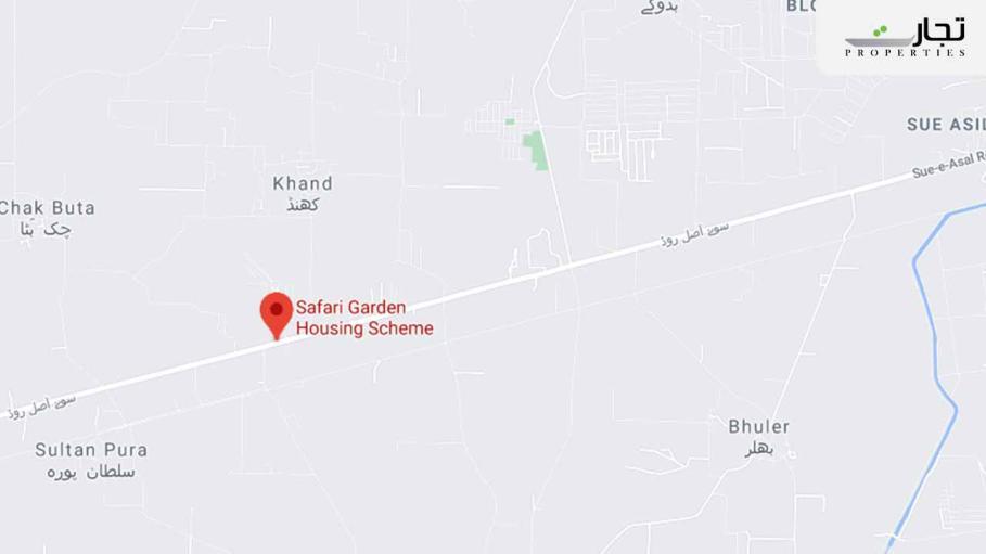 Safari Garden Scheme Lahore Location