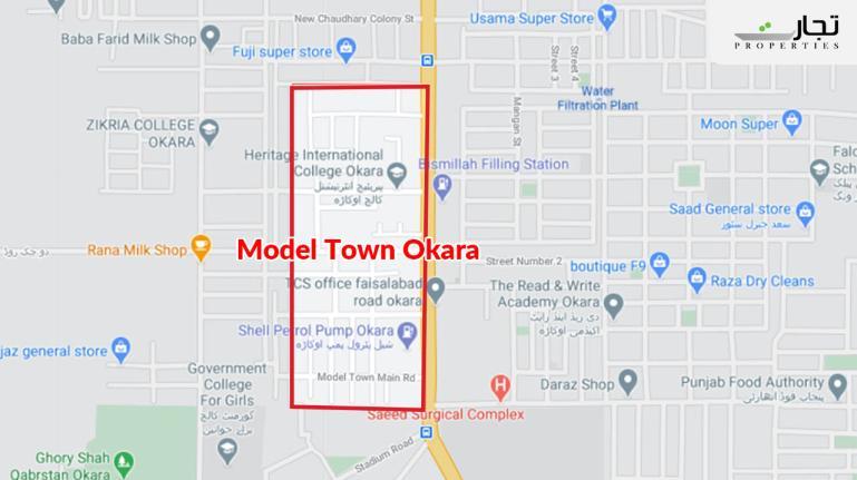 Model Town Okara Location