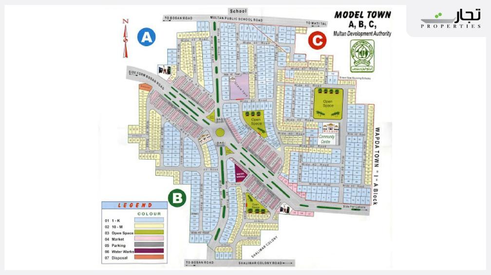 Model Town Multan Master Plan