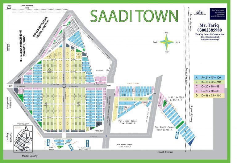 Saadi Town Karachi Master Plan