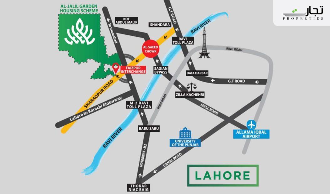 Al Jalil Garden Lahore Location
