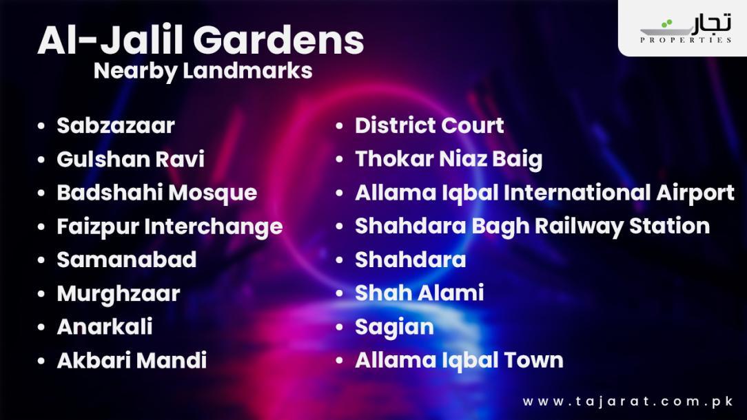 Al Jalil Garden Lahore Location: