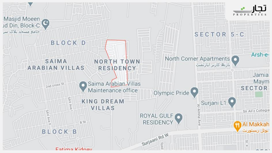 North Town Residency Location