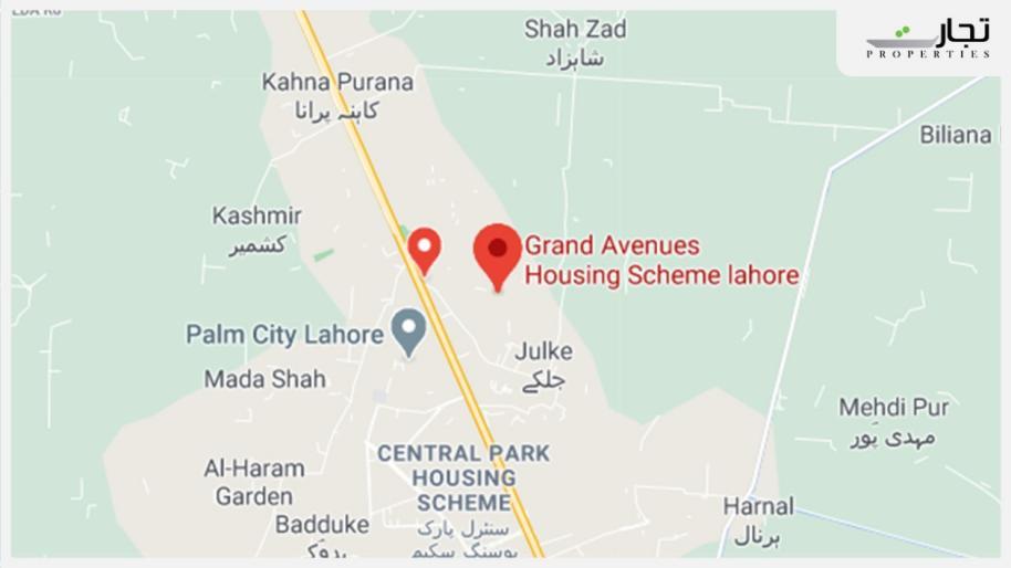 Grand Avenue Lahore Location