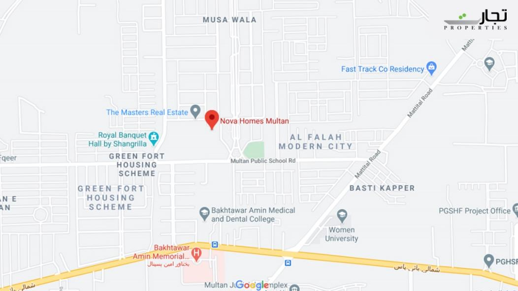 NOVA Homes Multan Location