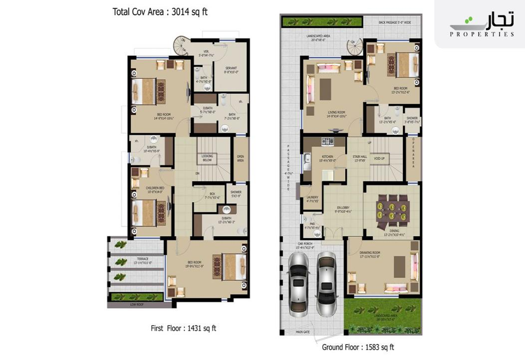 NOVA Homes 10 Marla Floor Plan