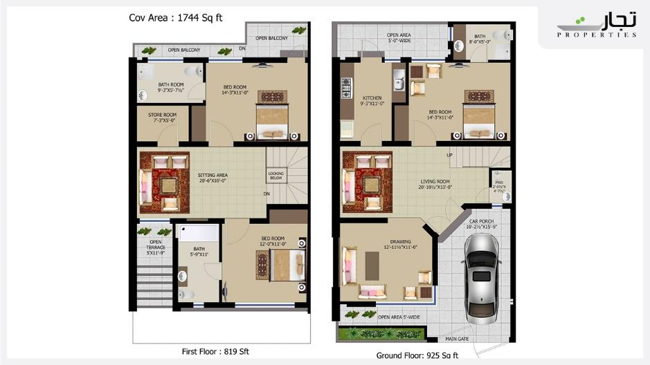 NOVA Homes 05 Marla Floor Plan