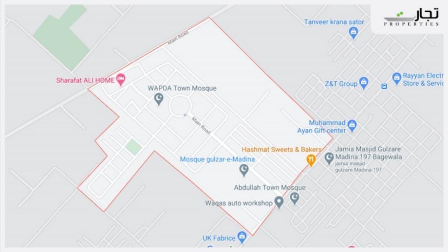 Wapda Town Faisalabad Location