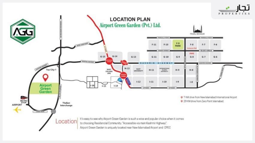 Airport Green Garden Islamabad Location