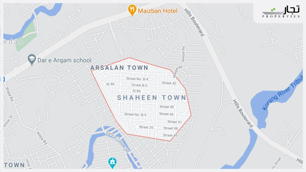 Shaheen Town Islamabad Location