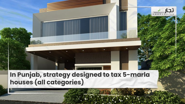 In Punjab, strategy designed to tax 5-marla houses (all categories)