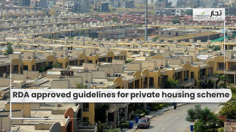 RDA approved guidelines for private housing scheme