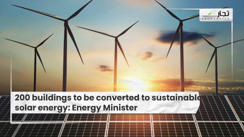 200 buildings to be converted to sustainable solar energy, says Energy Minister