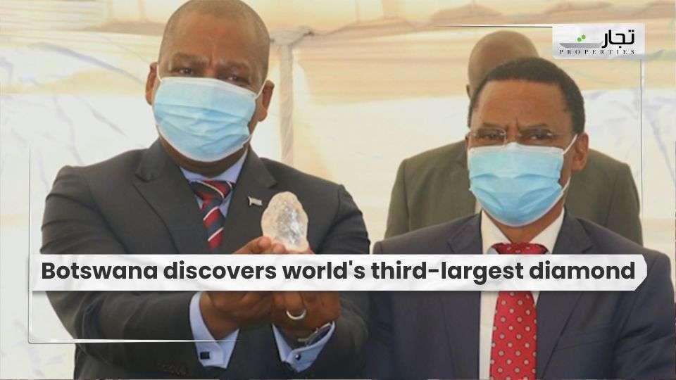 Botswana discovers world's third-largest diamond