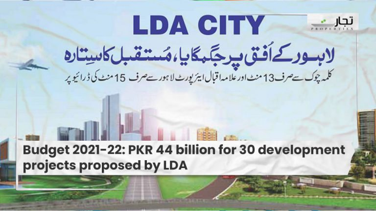 Budget-2021-22-PKR-44-billion-for-30-development-projects-proposed-by-LDA