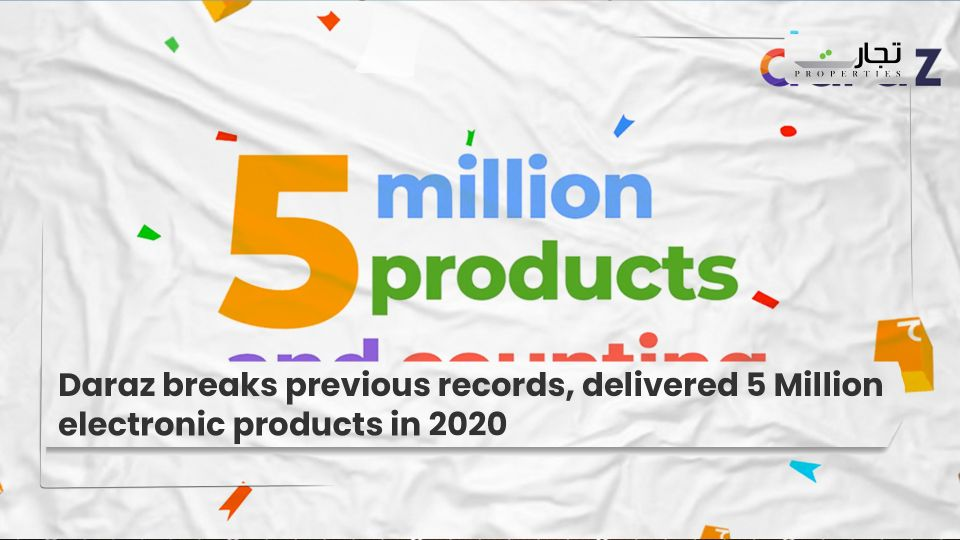 Daraz breaks previous records, delivered 5 Million electronic products in 2020